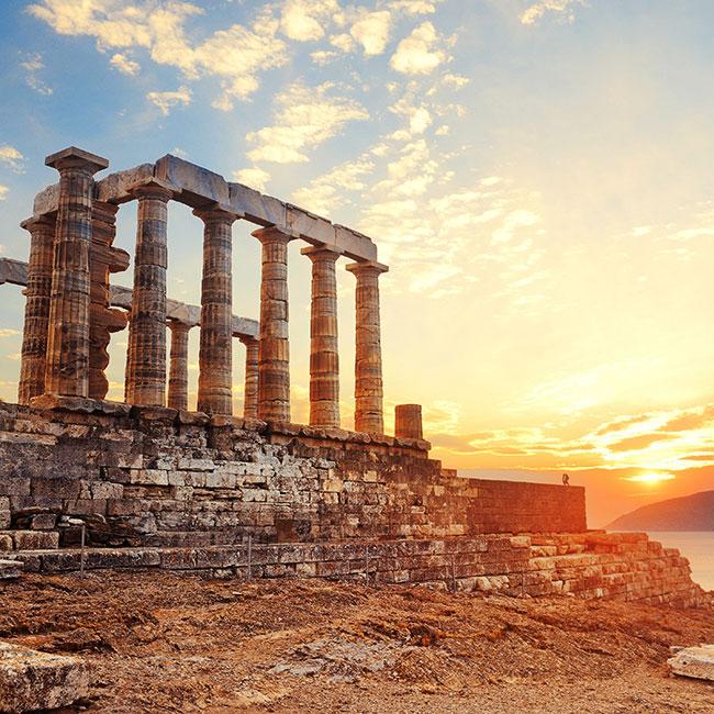 Sounio Sunset – Athens by night